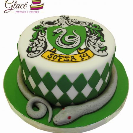 Slytherin Fondant Glace Pasteles y Postres monterrey